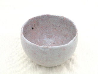 A contemporary wabi-sabi tea bowl