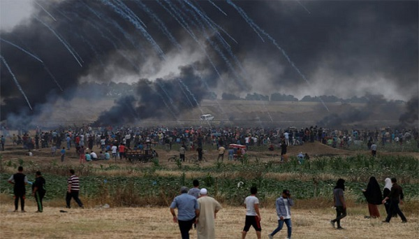 Israeli troops fire shots, tear gas at Gaza protesters, 350 Palestinians hurt
