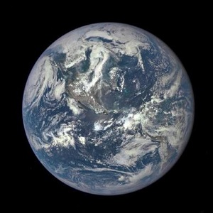 Earth as seen by the Deep Space Climate Observatory (Dscovr)