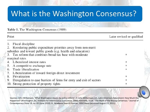 the washington consensus How can the answer be improved.
