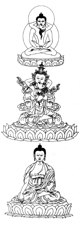Tantric Buddhist depiction of the Three Bodies